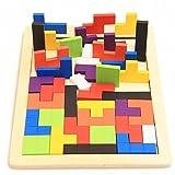 FomCcua - Puzle de madera para tetris, juego de construcción para niños y niños
