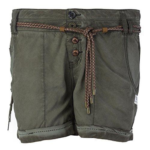 khujo Damen Shorts, Farbe:Olive;Größe:31