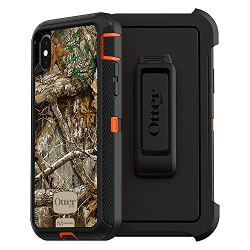 OtterBox DEFENDER SERIES Case for iPhone Xs & iPhone X - Retail Packaging - RT BLAZE EDGE (BLAZE ORANGE/BLACK/RT EDGE GRAPHIC
