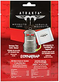 DynaTrap 100611 60 Day Supply Atrakta Lure Sachet Insect Trap Mosquito Repellent, One Size, White