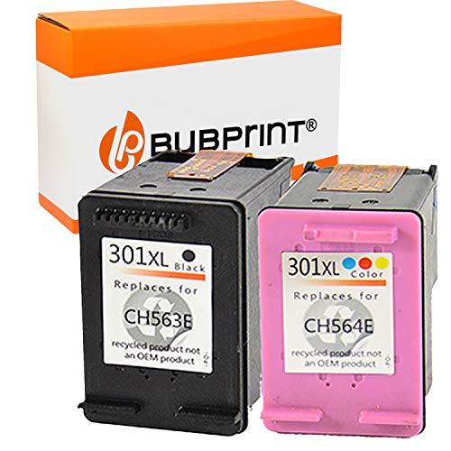 Bubprint 2 Cartucce d'inchiostro compatibili per HP 301 XL 301XL per DeskJet 1000 1050 1510 2050 a 2510 2542 2544 2545 3050 3055a Envy 4507 5530 Multipack