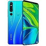 Smartphone 128gb 4gb Ram Pantalla De CaíDa De Agua De 6.1 Pulgadas, CáMara De 13-18Mp, Batería De 4000mAh, TeléFono MóVil con Reconocimiento Facial 32GB Blue