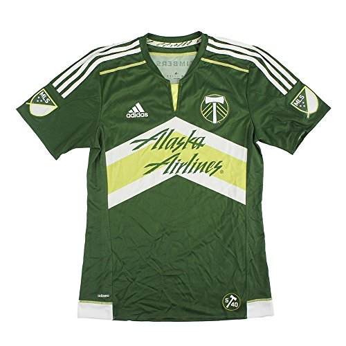 adidas Portland Timbers MLS Men's Green Short Sleeve Authentic On-Field Jersey (2XL)
