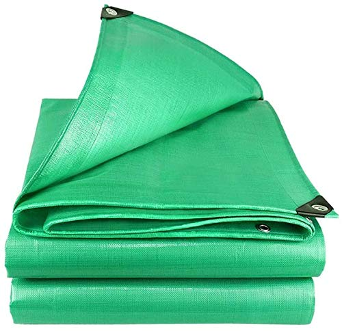 DJPB Tarpaulin waterproof tarps camping groundsheet Tarpaulin PE Waterproof Tarp Sunscreen Plastic Shade Awning Cloth For Garden Furniture Wood Car Camping Or Gardening 160g/㎡,Green,3X5M 4PB08