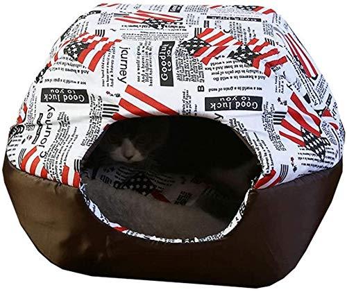 IUYJVR Cama para Mascotas Cama para Mascotas Acogedor Cálido Clásico Cómodo Cama Suave para Mascotas Yurt para Mascotas Suministros para Mascotas Perrera para Mascotas Casa para Perros Nido para ga