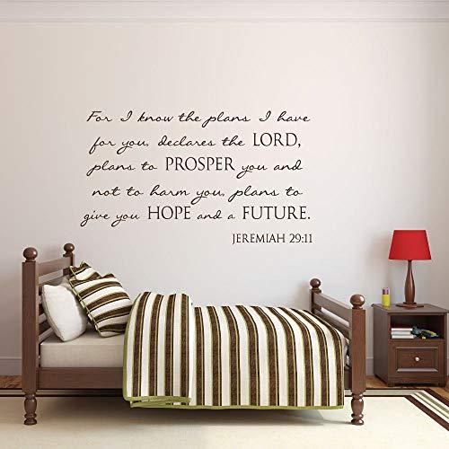 Promini Schrift Kwekerij Kwekerij Decal Christian voor Ik Ken De Plannen Jeremiah 29 11 Wall Art Muursticker Window Decal 20