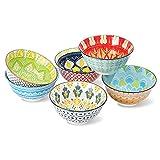 Ciotola Colazione - Ciotole Ceramica - Ciotola Cereali Insalatiera 700ml - Colorate Scodella per Zuppa | Ramen | Insalata | Pasta | Macedonia | Minestra | Porridge - Set di 6