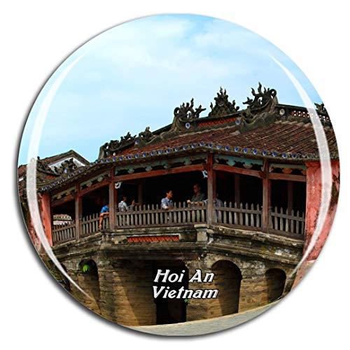 Weekino Vietnam Ponte Coperto Giapponese Hoi An Calamità da frigo 3D Cristallo Bicchiere Tourist City Viaggio Souvenir Collezione Regalo Forte Frigorifero Sticker