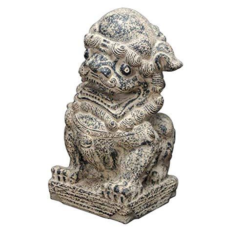 DCLINA Estatua y Base del león Beijing Feng Shui, Gran jardín Piedra y león decoración del hogar, decoración China