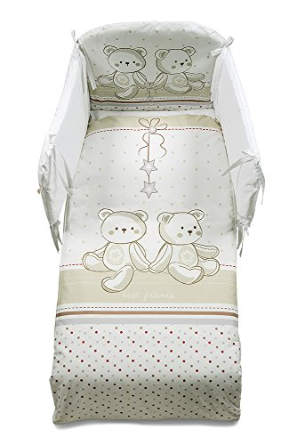 Italbaby Amici amovible Couette, Beige, 5 pièces