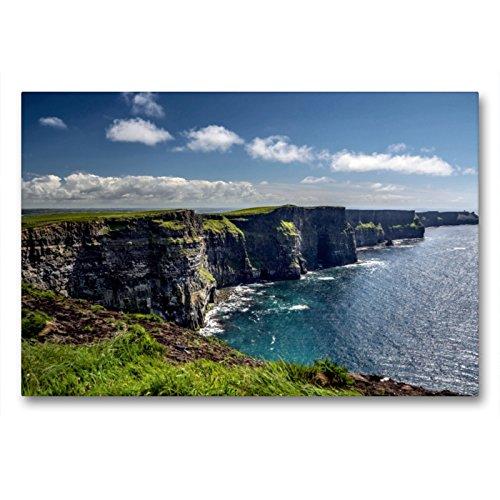 Premium Textil-Leinwand 90 x 60 cm Quer-Format Cliffs of Moher | Wandbild, HD-Bild auf Keilrahmen, Fertigbild auf hochwertigem Vlies, Leinwanddruck von Dirk Stamm