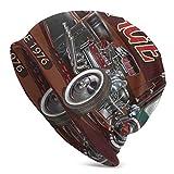 1960s auto vintage Hot Rod Garage 1950 anni 1970 unisex Slouchy Beanie copricapo adatto a tutti gli stili cappello lavorato a maglia per tutti i giorni