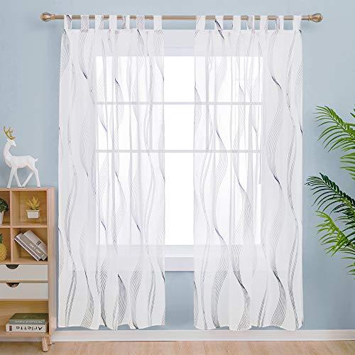 cortinas habitacion negras translucidas