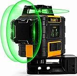 Livella Laser Autolivellante Verde 3x360°, livella laser Professionale 360, Carica USB, Modalità...