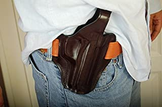 cal38 Handcrafted Leather Belt Holster for Beretta Model F92 92 96 92F 92FS 92D M9 (R.H) Black Tan