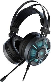 Gaming headphones سماعات رأس الألعاب 7.1 الصوت المحيطي الظاهري سماعة السلكية سماعة RGB ضوء إلغاء الضوضاء MIC للكمبيوتر PS4...