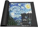 Alfombrilla para puzzle de 1000/1500 piezas de puzzle, rollo para rompecabezas, alfombrilla para puzzle, color negro