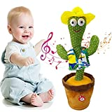 FASTUEUXO Dancing Cactus Repeats What You Say,Dancing Cactus Plush Toys,Sing Electronic Plush Toy,Family Decorating Children's Gifts for Birthday,Christmas, and Halloween (C)