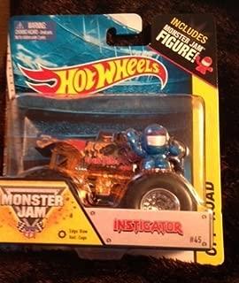Monster Jam INSTIGATOR includes monster jam figure hot wheels #45 off-road has edge glow roll cage