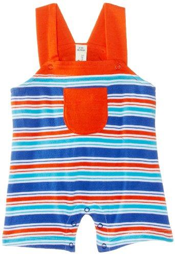 Sense Organics - Salopette Bébé garçon Henya Dungaree Romper - Bleu (Blue Multi Stripe) - 3 mois
