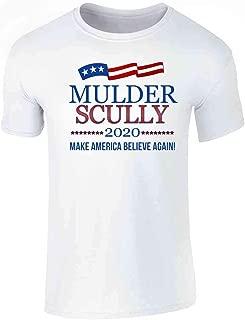 Pop Threads Mulder /& Scully 2020 Make America Believe Again Mens Fleece Hoodie Sweatshirt