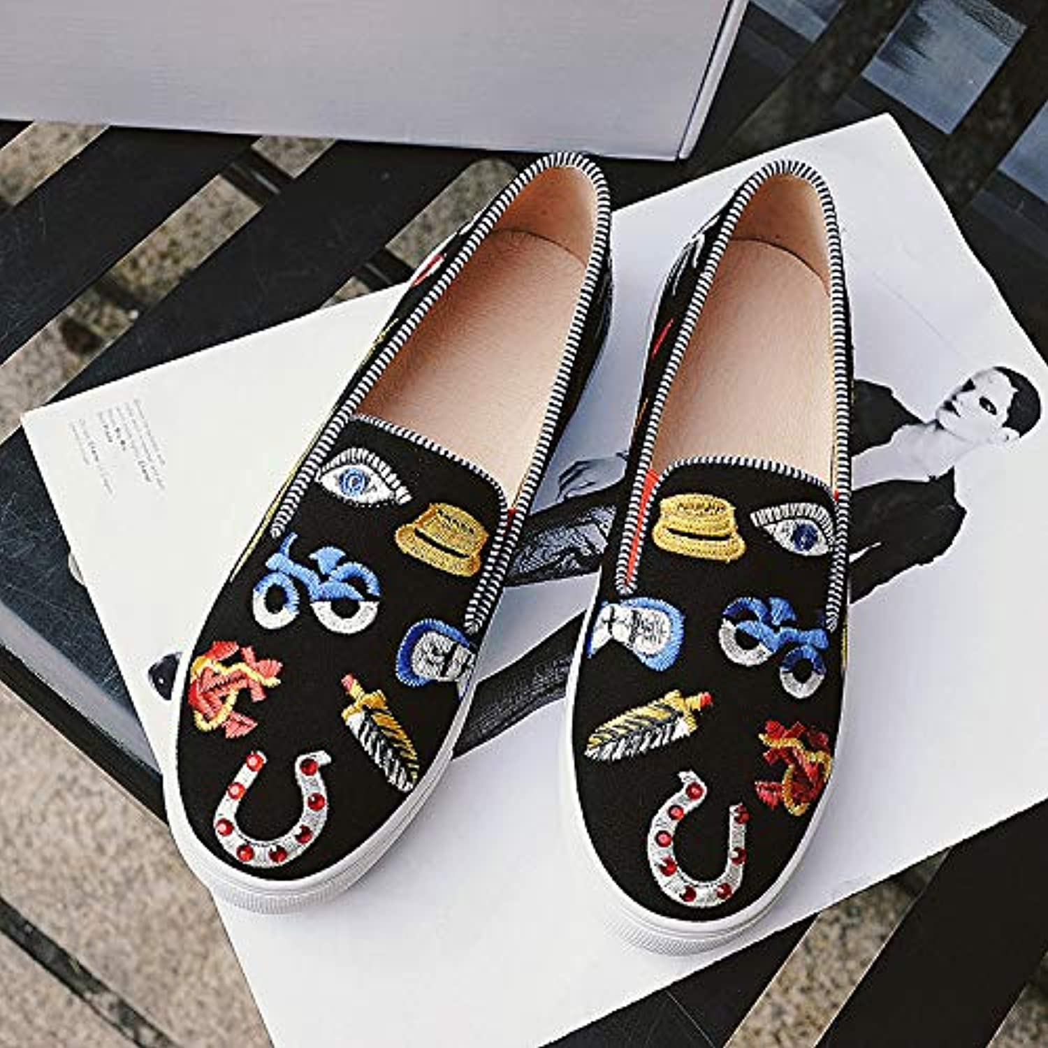 Meiren Flat shoes Embroidered shoes