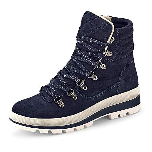 Tamaris Damen 1-1-25804-25 Kniehohe Stiefel, blau, 38 EU