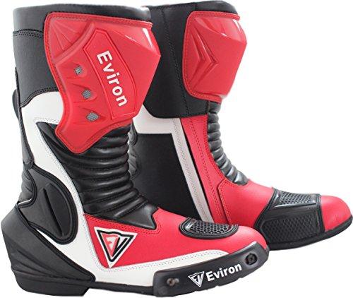 Botas protectoras impermeables para moto, color rojo y blanco de Eviron, color, talla 40 EU