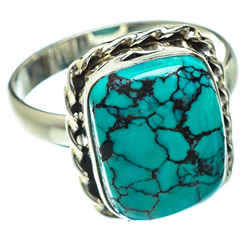 Ana Silver Co Tibetan Turquoise Ring Size Z (925 Sterling Silver)