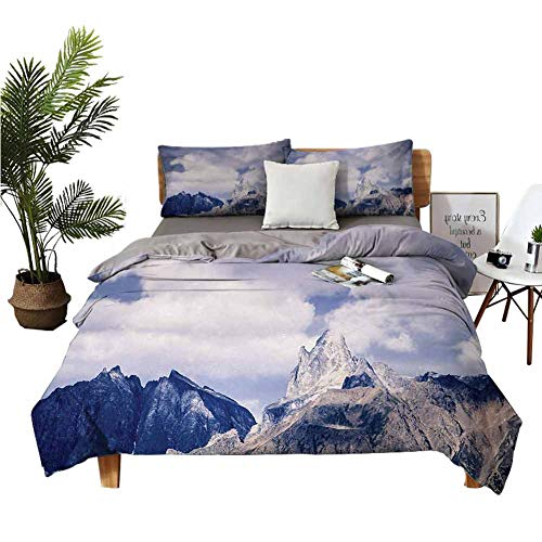 Best Deals! Crib Sheets Alaska King Size Sheets Craggy Peaks in Southeast Alaska Fall Season Mountai...