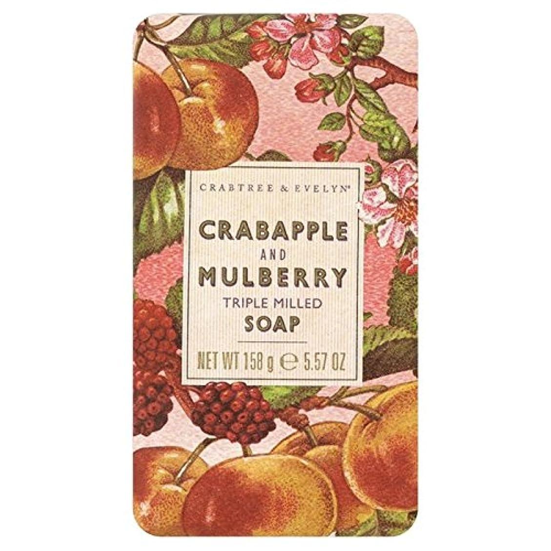 霧強化石灰岩クラブツリー&イヴリンと桑遺産石鹸150グラム x2 - Crabtree & Evelyn Crabapple and Mulberry Heritage Soap 150g (Pack of 2) [並行輸入品]