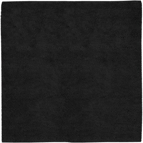 Hot Sale Surya Aros AROS-13 Shag Hand Woven 100% New Zealand Felted Wool Black Olive 8' Square Area Rug