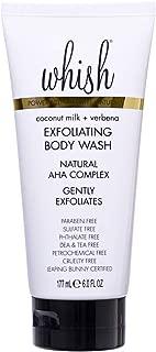 Whish Beauty Coconut Milk and Verbena Exfoliating Body Wash, 6 Fl Oz