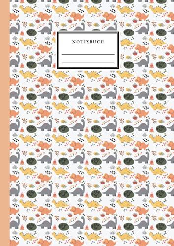 Notizbuch: Dinosaurier - A4-liniertes Notizbuch - A4-liniertes Notizbuch für Notizen, Skizzen, Tagebuch oder Geschenk - wunderschöner Umschlag mit ... Notizbücher für Kinder und Erwachsene)