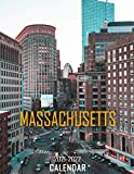 Massachusetts: 2021 – 2022 Calendar of Nature, Country, University – 18 months – 8.5 x 11 Inch High Quality Images