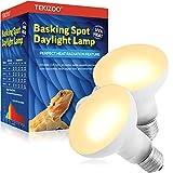 TEKIZOO Basking Spot Daylight Lamp UVA Heat Bulb for Reptile and Amphibian Pet 50W(2 Pack)