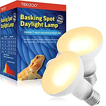 TEKIZOO Basking Spot Daylight Lamp UVA Heat Bulb for Reptile and Amphibian Pet 50W 2 Pack