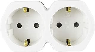 Blanco UCOMEN Regleta Enchufes 4 Tomas 2 Puertos USB 3680W Regleta Enchufes M/últiples con Protecci/ón Sobretensi/ón y Sobrecarga Power Strip