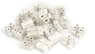 uxcell 220V 2 Position H Type Screw Terminal Blocks Strips Wire Cable Connectors 20pcs
