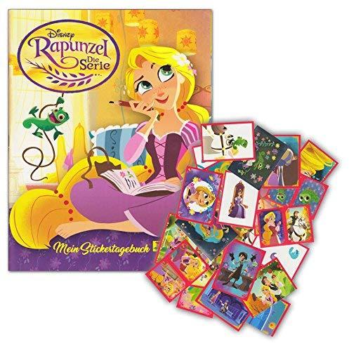 Panini - Rapunzel Die Serie - Starter-Set aus Sammelalbum + 50 Verschiedenen Sammelstickern - Keine Doppelten