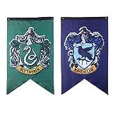 2Pcs 75 * 125cm Harry Potter Bannière Bannière Murale Intérieur Extérieur Drapeau De Fête - Ensemble De Bannières