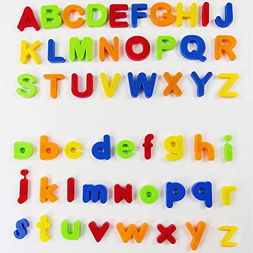 80 Stück magnetischer Buchstaben und Zahlen, pädagogisches Spielzeug für das Erlernen der Zahlen, Buchstaben und Rechtschreibung. Spielzeug für die Vorschule