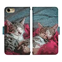 iPhone XS ベルトあり 手帳型 スマホケース スマホカバー di840(Q) 猫 ねこ ネコ 動物 アニマル アイフォンXS アイフォンテンS アイフォン10S スマートフォン スマートホン 携帯 ケース アイホンXS アイホンテンS アイホン10S 手帳 ダイアリー フリップ スマフォ カバー
