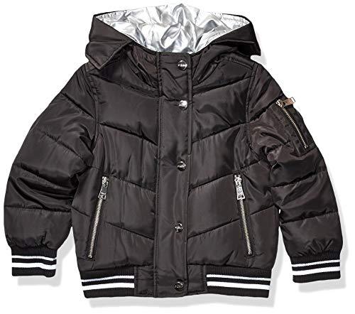 DKNY Mädchen Puffer Jacket Daunenalternative, Mantel, Bomber Black, 6X