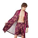 DEELIN Pantalones Cortos De Seda De Seda De Moda Casual para Hombres Vestidos De Dos Piezas De Servicio Casero