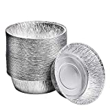 10-Inch Aluminum Dutch Oven Liner Pans | Disposable Cake Pan and Extra Deep Aluminum Foil Pans for Baking, Freezing, and Storage | Durable Aluminum Round Baking Pans | 100 Count