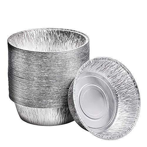 25,4 cm Alu-Backform für Dutch Oven | Einweg-Kuchenform und extra tiefe Aluminiumfolienformen zum Backen, Einfrieren und Aufbewahren | Langlebige Aluminium-Backformen | 20 Stück