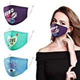 Valentines Day Face Mask Adjustable Washable Breathable Cotton Cloth...