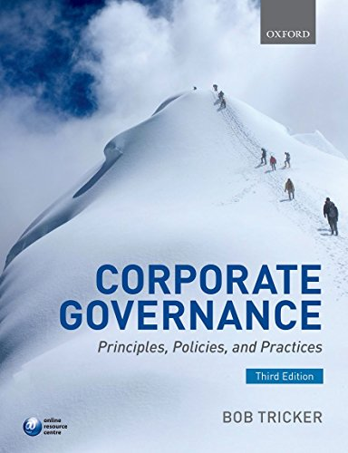 Compare Textbook Prices for Corporate Governance: Principles, Policies, and Practices 3 Edition ISBN 9780198702757 by Tricker, R. I. (Bob)