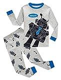 Family Feeling Big Boys Robot Pajamas 100% Cotton Pjs Kid Sleepwear 10